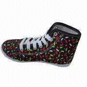Fashion canvas shoe for girl's, comes in various colors, customized designs are accepted