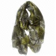 China 2014 fashion scarf with leopard snake pattern, made of polyester, available in various colors
