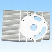 China Heatsinks, Made of Aluminum, Wire drawing Surface Treatment, Processed by Computer Gongs