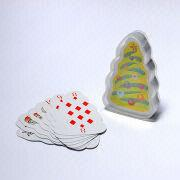 Christmas tree shape playing cards from China (mainland)