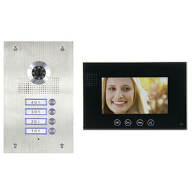 Wired Video Door Phone, Video Villas Set, Outdoor + Monitor + Power Supply