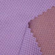 Taiwan Coconut Charcoal Polyester Double Knitted Fabric, Ideal for Sports, Casual Wear and More