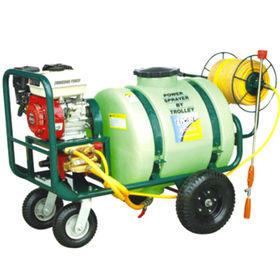 China Hand Push Power Sprayer, Car Four Solid Rubber Wheel, Form a Complete Set Include Hose Reel