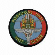 China Embroidered Patch with Merrow Boarder, Comes in Various Colors
