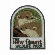 Embroidered Patch with Heat Cut Boarder, Comes in Various Colors