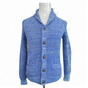 Men's knitted cardigan from China (mainland)