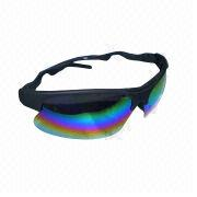Fashionable sunglasses, made of plastic/glass, in various colors, customized designs are accepted