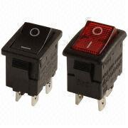 Double Pole Mini Rocker Switches with Up to 12A/125V AC, SPST, DPST, Illuminated or non-illuminated