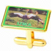 Shiny Gold UWA Cufflinks from Taiwan