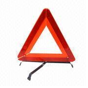 Hong Kong SAR Triangle Warning Sign with Iron Tripod. Packaged with Plastic Packaging Box.