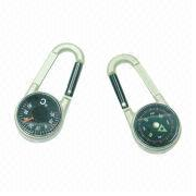 Carabiner-shaped Dual Face Compass from Hong Kong SAR