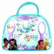 China Plastic Children's Jewelry with Handbag/Necklace/Mirror/Earrings/Comb, Fashionable