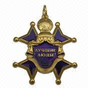3-D Zinc-alloy Metal Badge and Emblem from China (mainland)