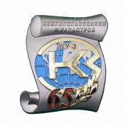 3-D Zinc-alloy Metal Badge and Emblem, Available in Different Thicknesses