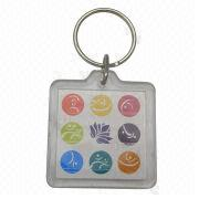 Acrylic Keyring with Single or Double-sided Custom-made Logos