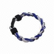 Hong Kong SAR Negative Ion Bracelet, Made of Silicone and Nylon, Popular Accessories for Health Sport Equipment