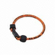 Hong Kong SAR Eco Daywalk Negative Ion Bracelet, Made of Silicone/Nylon, Popular Accessories for Sports Figures