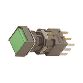 Square illuminated pushbutton switch from Taiwan