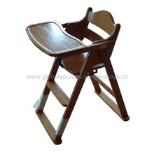 2013 new and popular wooden baby high chair from China (mainland)