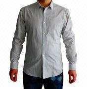 Men's Long-sleeved Striped Shirt from China (mainland)