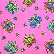Kid's Butterfly Printed Cotton Flannel Fabric from China (mainland)