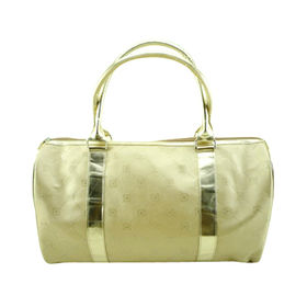 Embossing travel/duffel bag, made of PVC, OEM orders are welcome from Hangzhou J&H Trading Co. Ltd