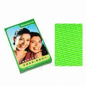 Green promotional gifts paper playing cards from China (mainland)