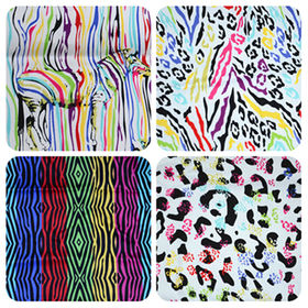China Colorful zebra-stripe printed twill fabric