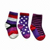 Children's rock baroque yarn socks from China (mainland)