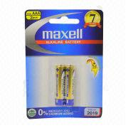 Maxell Alkaline Battery with Convenient Card Pack
