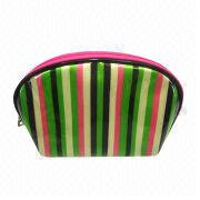 Satin PVC cosmetic bag for women from Fuzhou Oceanal Star Bags Co. Ltd