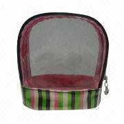 Promotional PVC cosmetic bag, measures 14.5 x 16.5 x 7cm from Fuzhou Oceanal Star Bags Co. Ltd