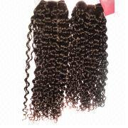 100% Human Remy Hair Curly Weaves from China (mainland)