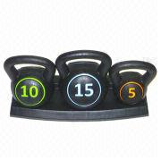 Fitness Depot Adjustable Chrome Kettle Bell Handle Set from China (mainland)
