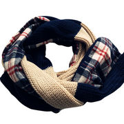 Acrylic+cotton yarns double sides knitted scarves from China (mainland)