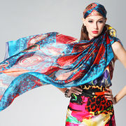 Digital printing silk scarf from China (mainland)