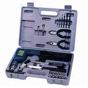 3/8-inch (10mm) Electric Drill/Driver Set with Hammer, Bits, Sockets, Connectors and Pliers from Jji Kae Enterprise Co Ltd