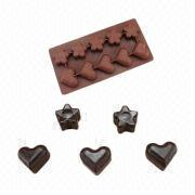 Silicone heart chocolate mold/silicone flower mold from China (mainland)