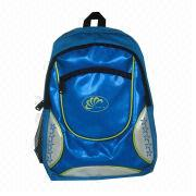 New Designed Blue Sports Backpack, Made of 1680D + PU Leather, OEM/ODM Orders Welcomed from Fuzhou Oceanal Star Bags Co. Ltd