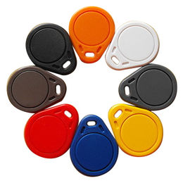 RFID/LF/HF Key Fobs/Tags for Access Control, Made of ABS Material, Sized 38 x 30 x 6mm