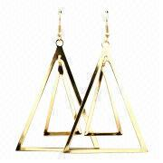 Fashionable Jewelry Triangle Earrings from Hong Kong SAR