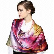 Silk Scarf, Customized Designs are Accepted, Available in Various Colors/Styles