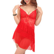 Hong Kong SAR Sexy lingeries/babydolls, made of mesh and lace, ODM/OEM orders are welcome