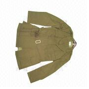 Khaki 45% wool/55% polyester jacket from China (mainland)