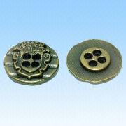 Zinc Alloy Buttons, Customized Sizes, Shapes and Styles are Welcome from HLC Metal Parts Ltd