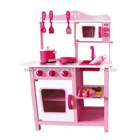 Kid's Wooden Play Kitchen Set Manufacturer