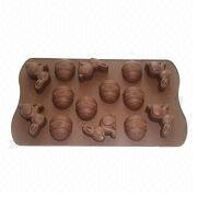 Rabbit and Egg Design Silicone Chocolate Ice Tray from China (mainland)