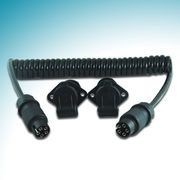 Trailer Connector with 5P/12/24V Spiral Cable and Hand Hook Injection Plastic Plugs from STONKAM CO.,LTD