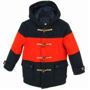Younger Boy Color Block Wool Coat from Hong Kong SAR