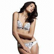 Women Lingerie Sexy Padded Bra Set from China (mainland)